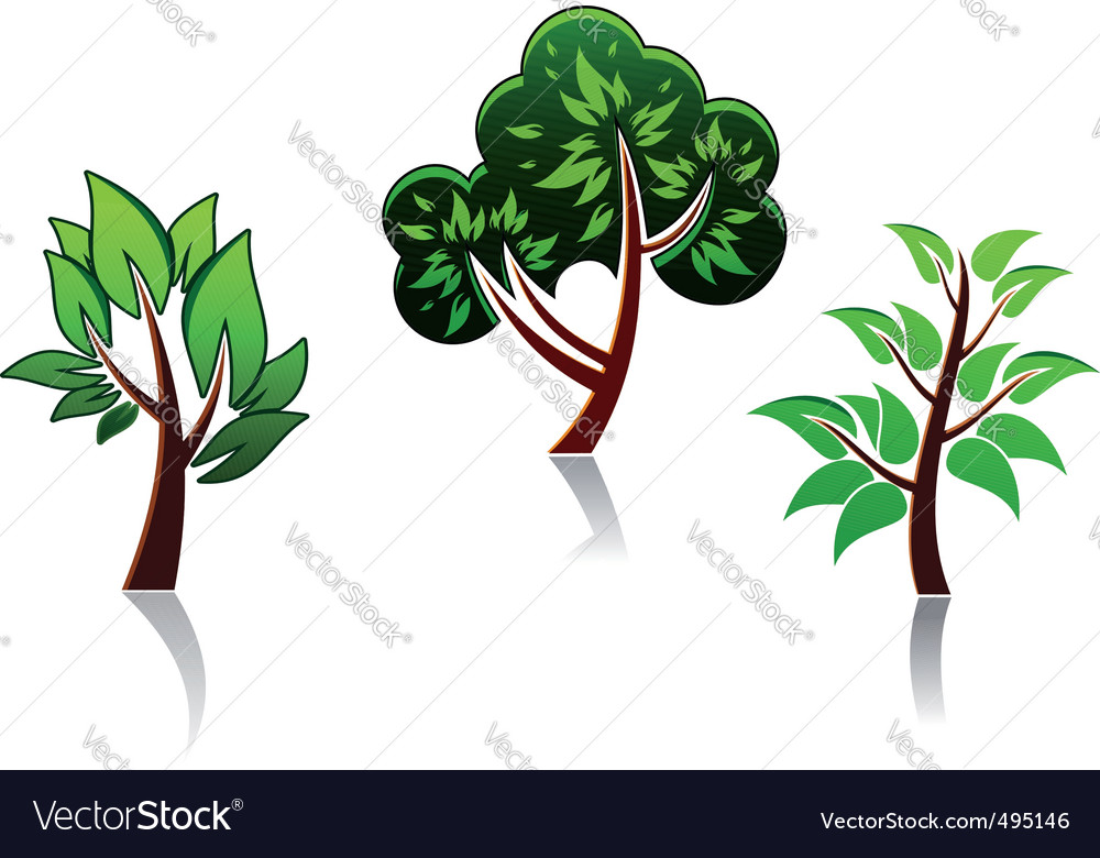 Tree icons vector | Price: 1 Credit (USD $1)