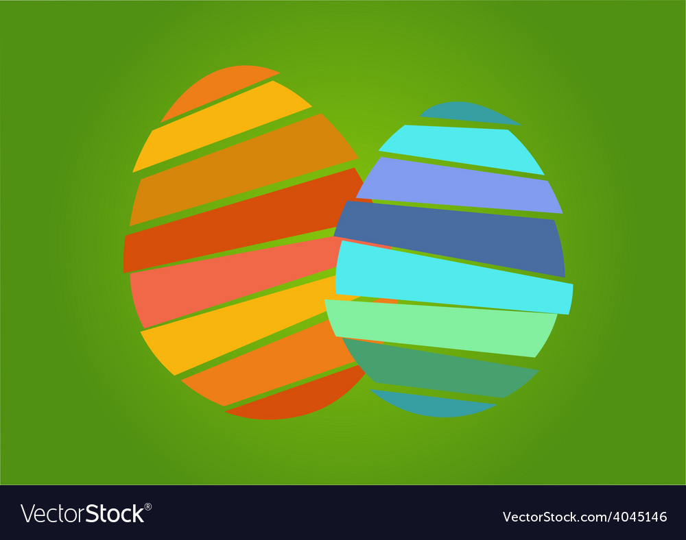 Two nice easter egg vector | Price: 1 Credit (USD $1)