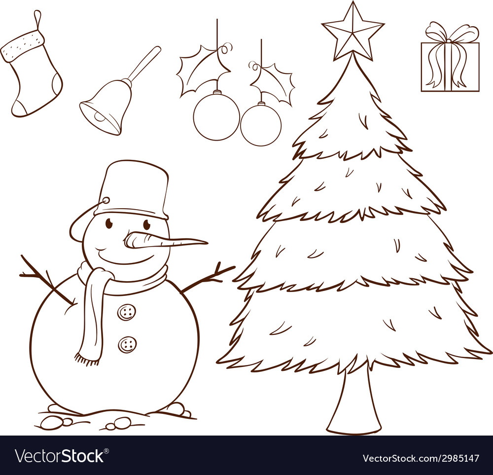 A simple drawing for christmas vector | Price: 1 Credit (USD $1)