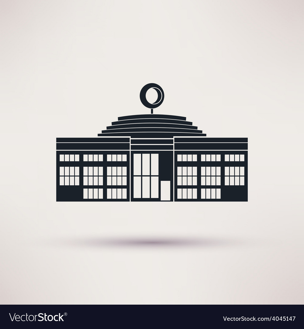 Auto show building icon in the flat style vector | Price: 1 Credit (USD $1)