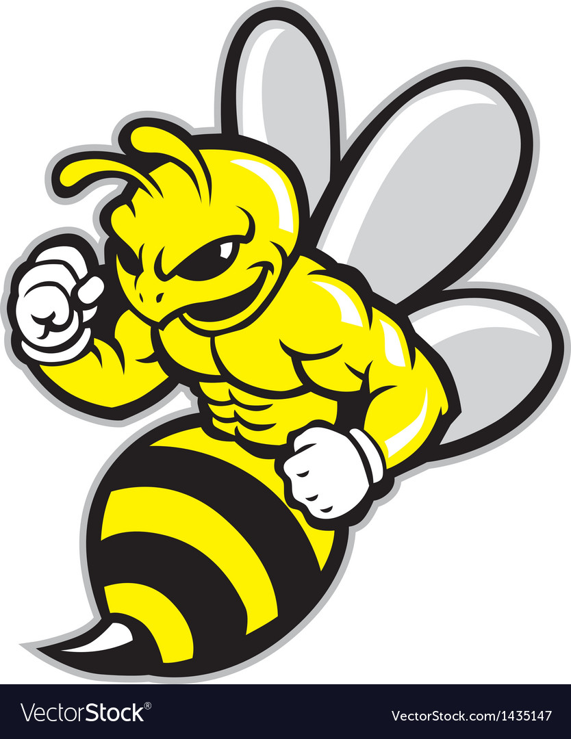 Bee mascot vector | Price: 1 Credit (USD $1)