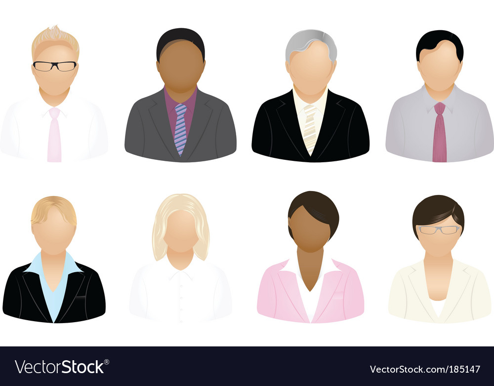 Business people icons vector | Price: 1 Credit (USD $1)