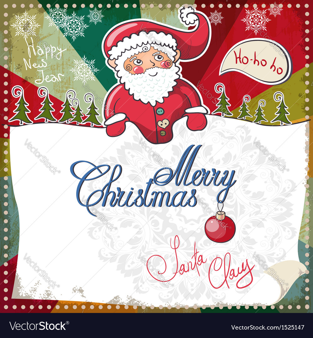 Christmas card merry christmas lettering eps 10 vector | Price: 1 Credit (USD $1)