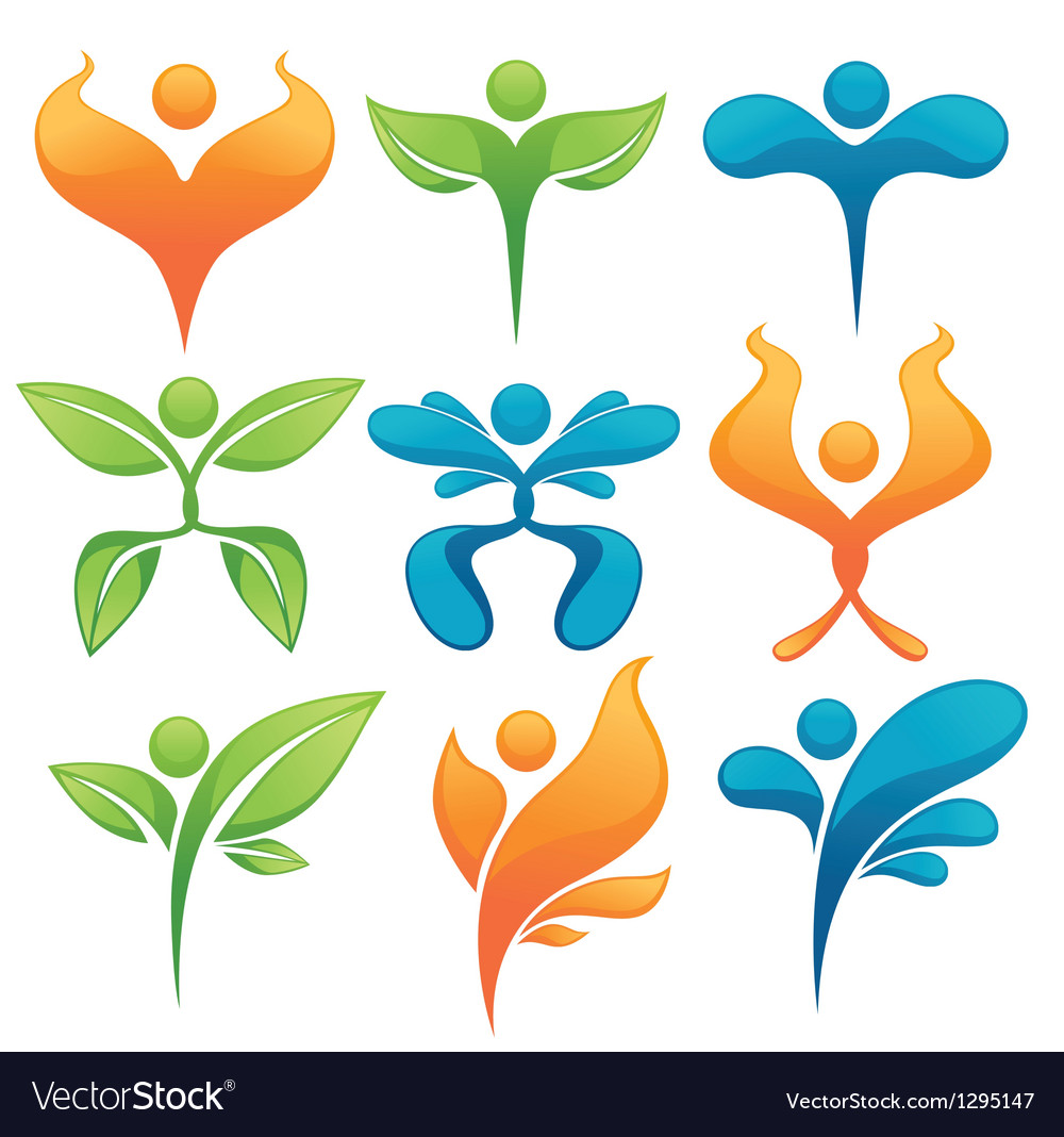Ecology and nature abstract people vector | Price: 1 Credit (USD $1)