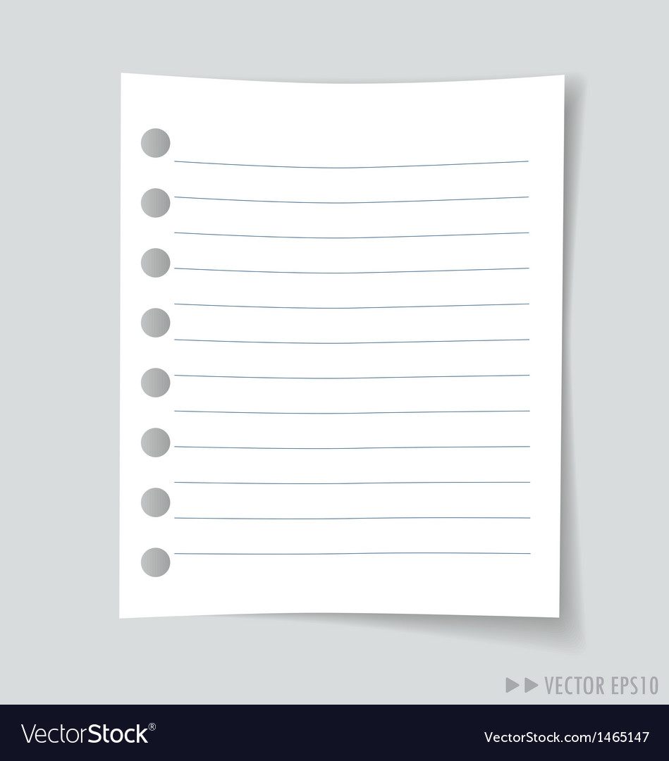 Empty white note paper vector | Price: 1 Credit (USD $1)