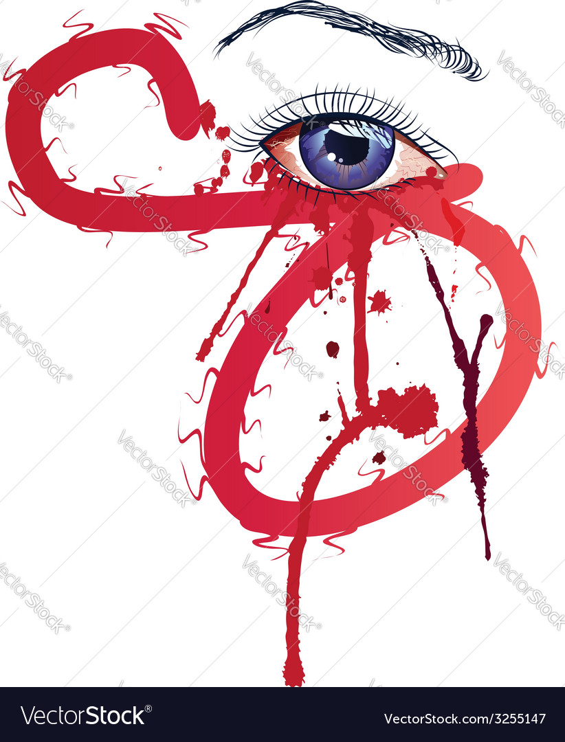 Eye with blood2 vector | Price: 1 Credit (USD $1)