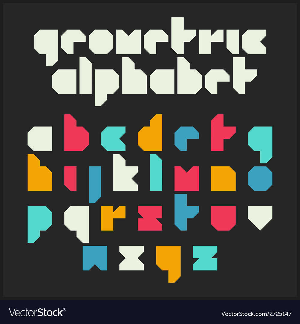 Geometric alphabet vector | Price: 1 Credit (USD $1)