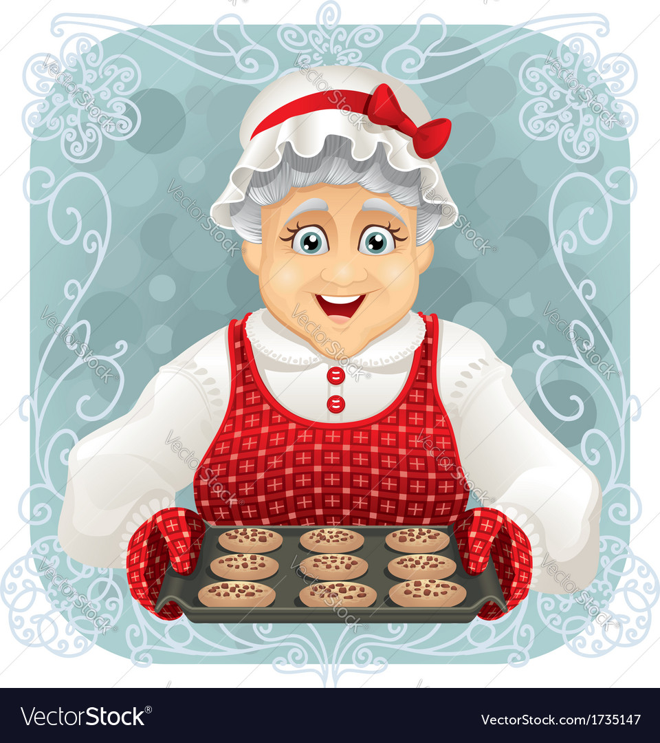 Granny baked some cookies vector | Price: 3 Credit (USD $3)