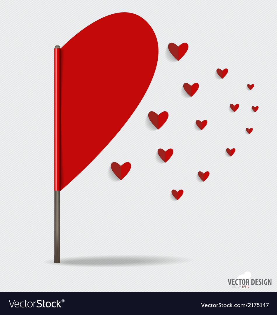 Happy valentines day paper hearts vector   Price: 1 Credit (USD $1)