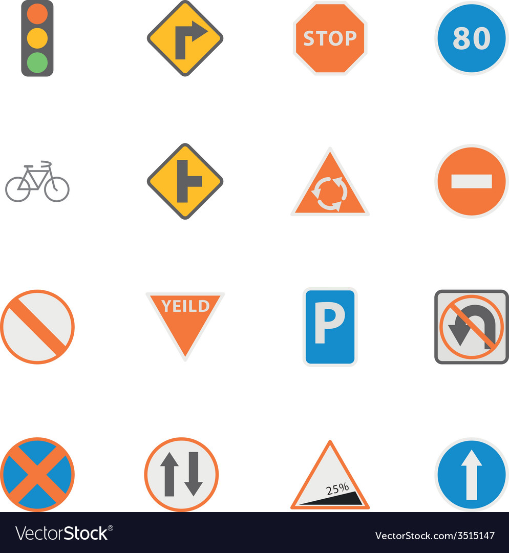 Icon traffic sign vector | Price: 1 Credit (USD $1)
