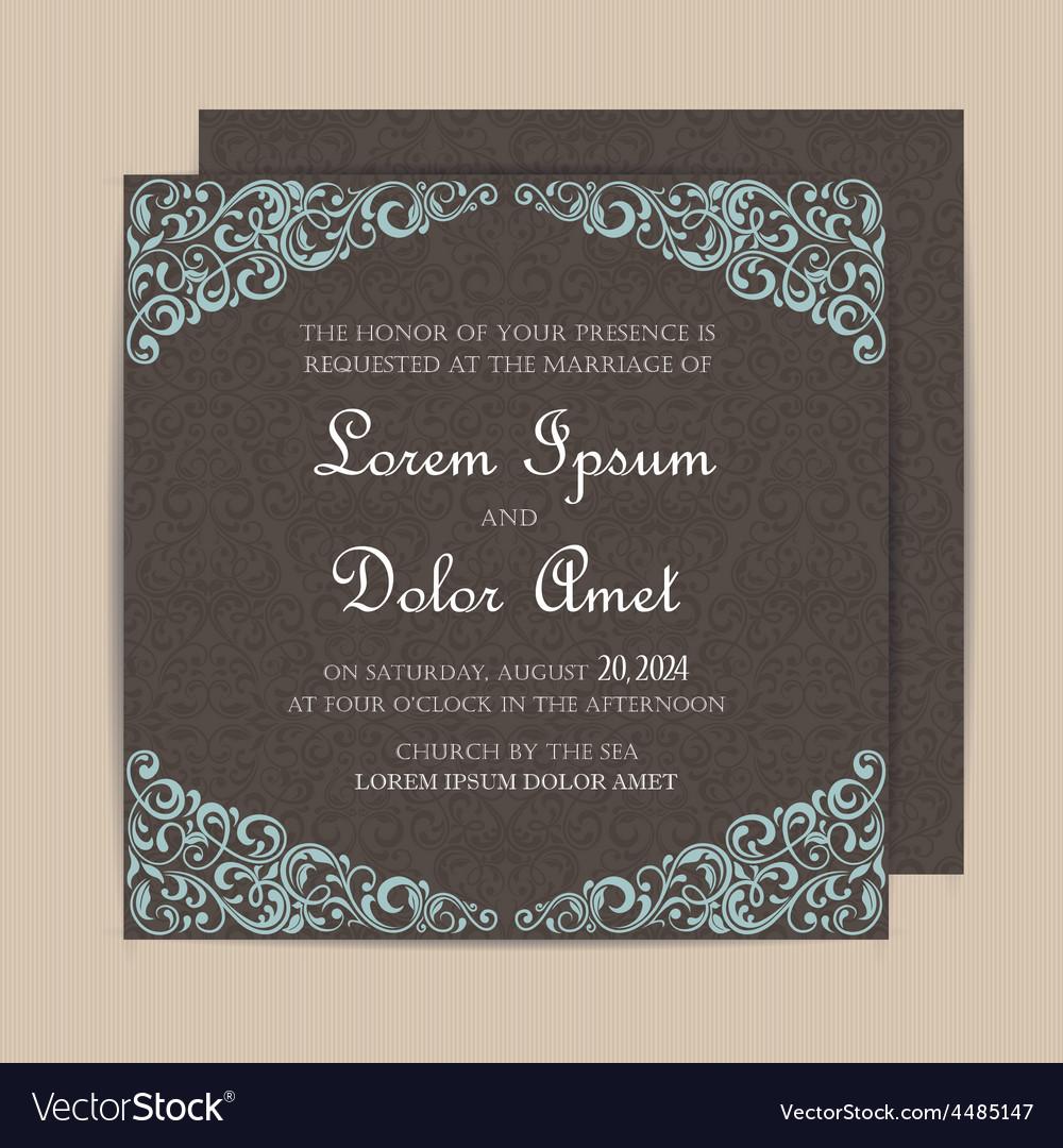 Invitation card dark vector | Price: 1 Credit (USD $1)