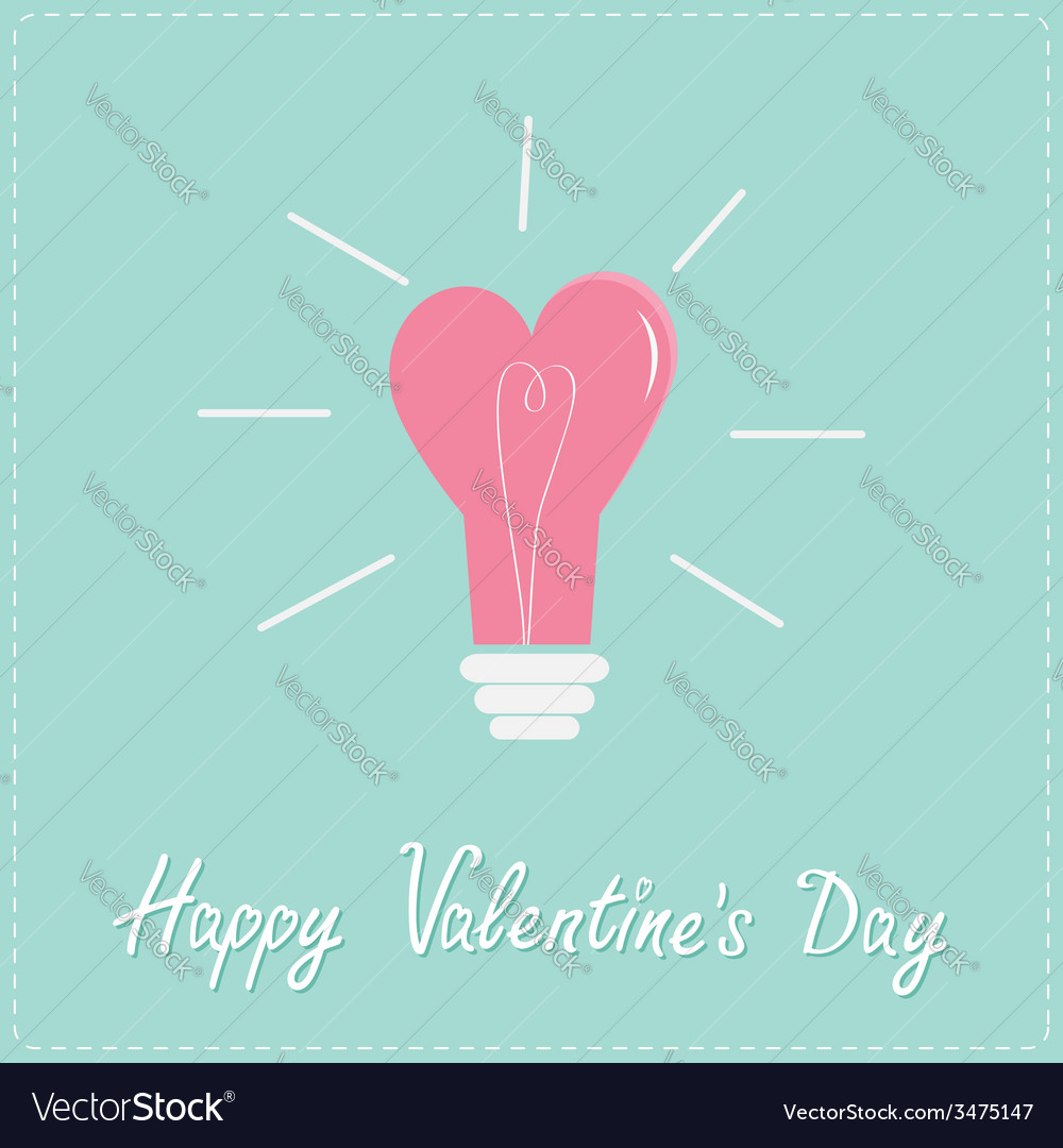 Light bulb in shape of heart flat design style vector   Price: 1 Credit (USD $1)