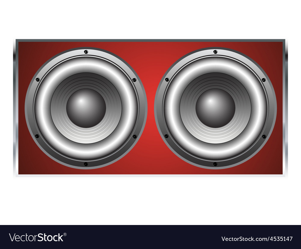 Loudspeaker cabinet 2 vector | Price: 1 Credit (USD $1)
