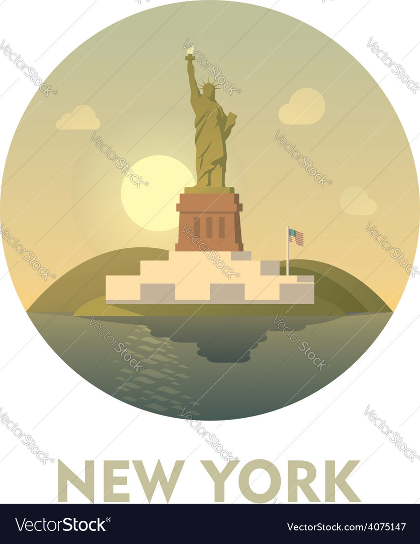Travel destination new york icon vector | Price: 3 Credit (USD $3)