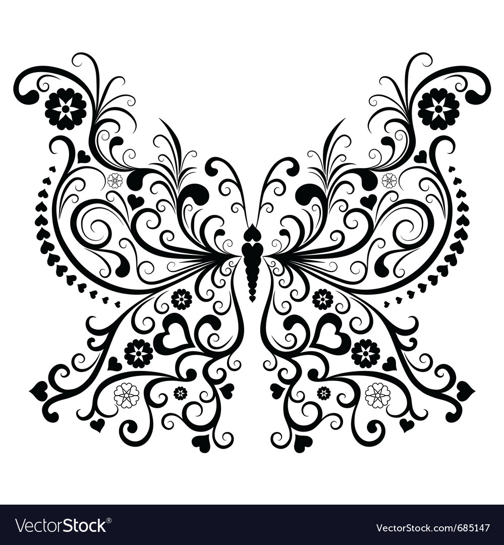 Vintage butterfly vector | Price: 1 Credit (USD $1)
