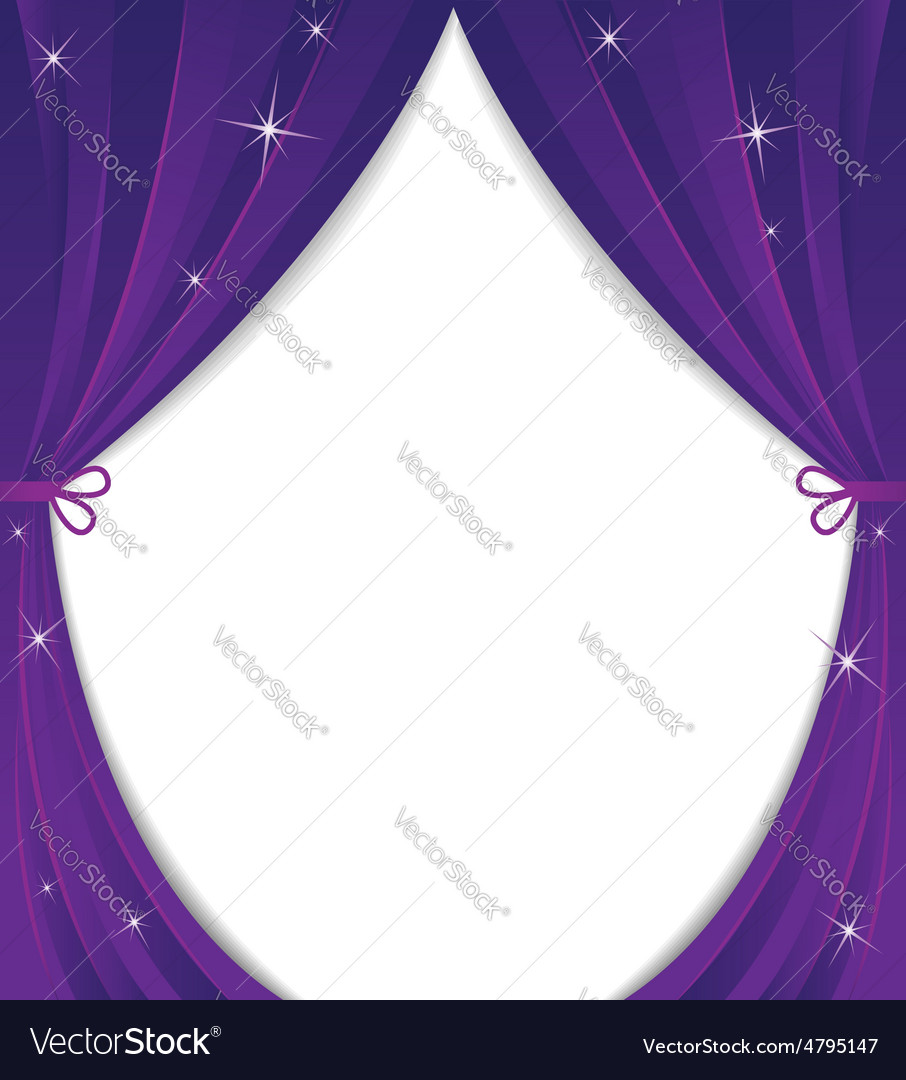 Violet curtain vector
