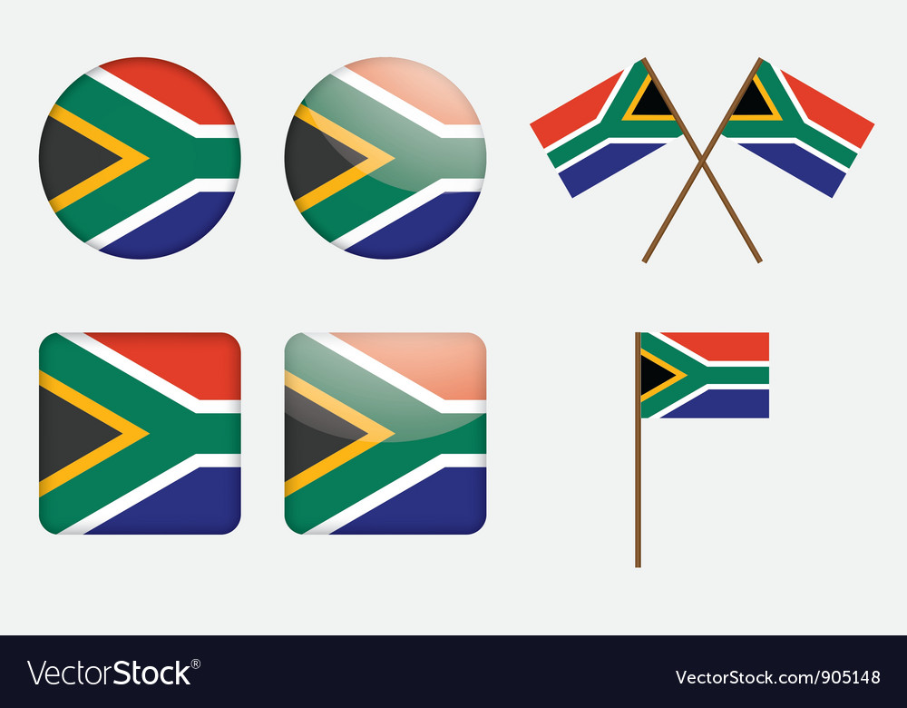 Badges with south africa flag vector | Price: 1 Credit (USD $1)