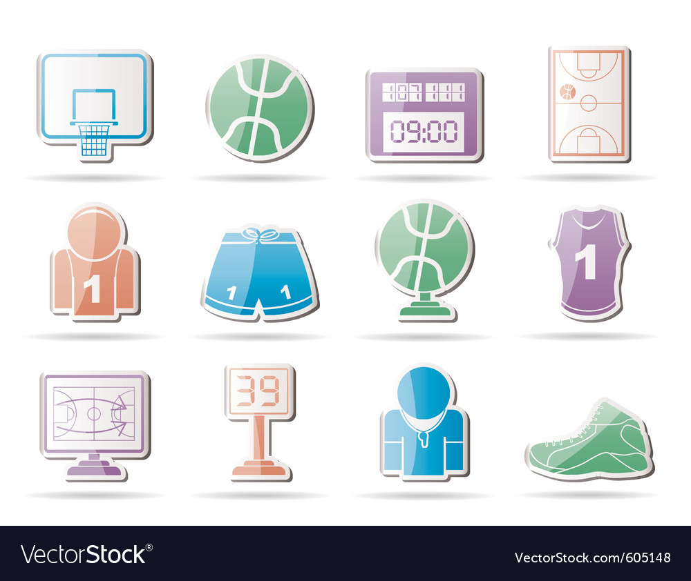 Basketball and sport icons vector | Price: 1 Credit (USD $1)