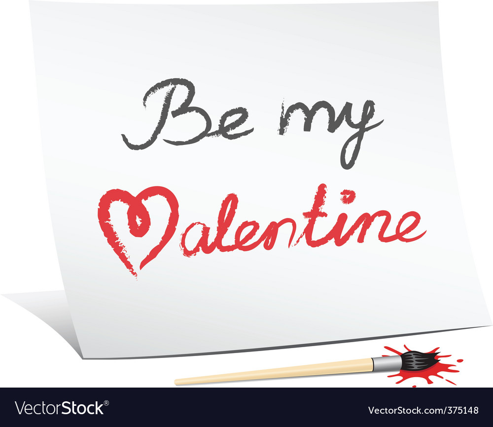 Be my valentine's vector | Price: 1 Credit (USD $1)