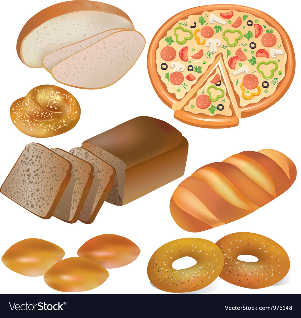 Bread and bakery set vector | Price: 5 Credit (USD $5)