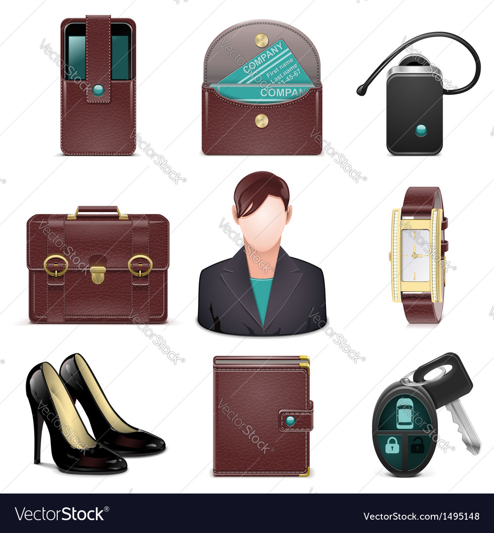Business lady accessories vector | Price: 3 Credit (USD $3)