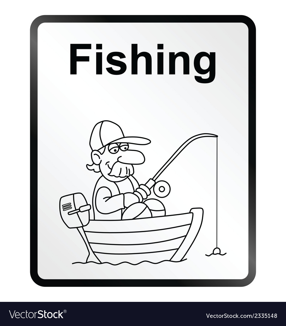 Fishing information sign vector | Price: 1 Credit (USD $1)