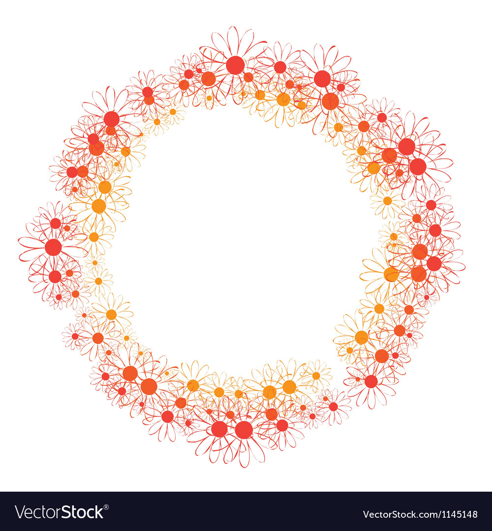 Frame of flowers vector | Price: 1 Credit (USD $1)