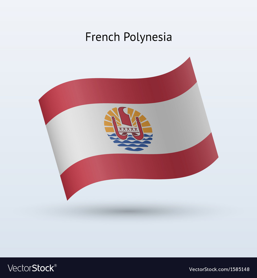 French polynesia flag waving form vector | Price: 1 Credit (USD $1)
