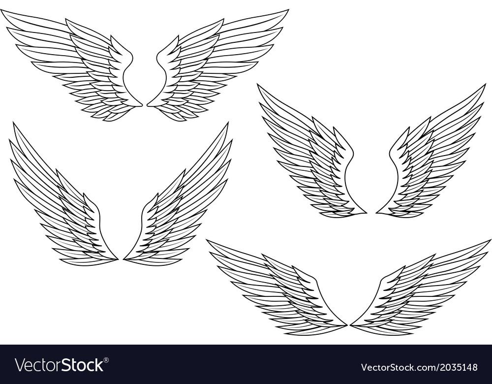 Heraldic wings vector | Price: 1 Credit (USD $1)