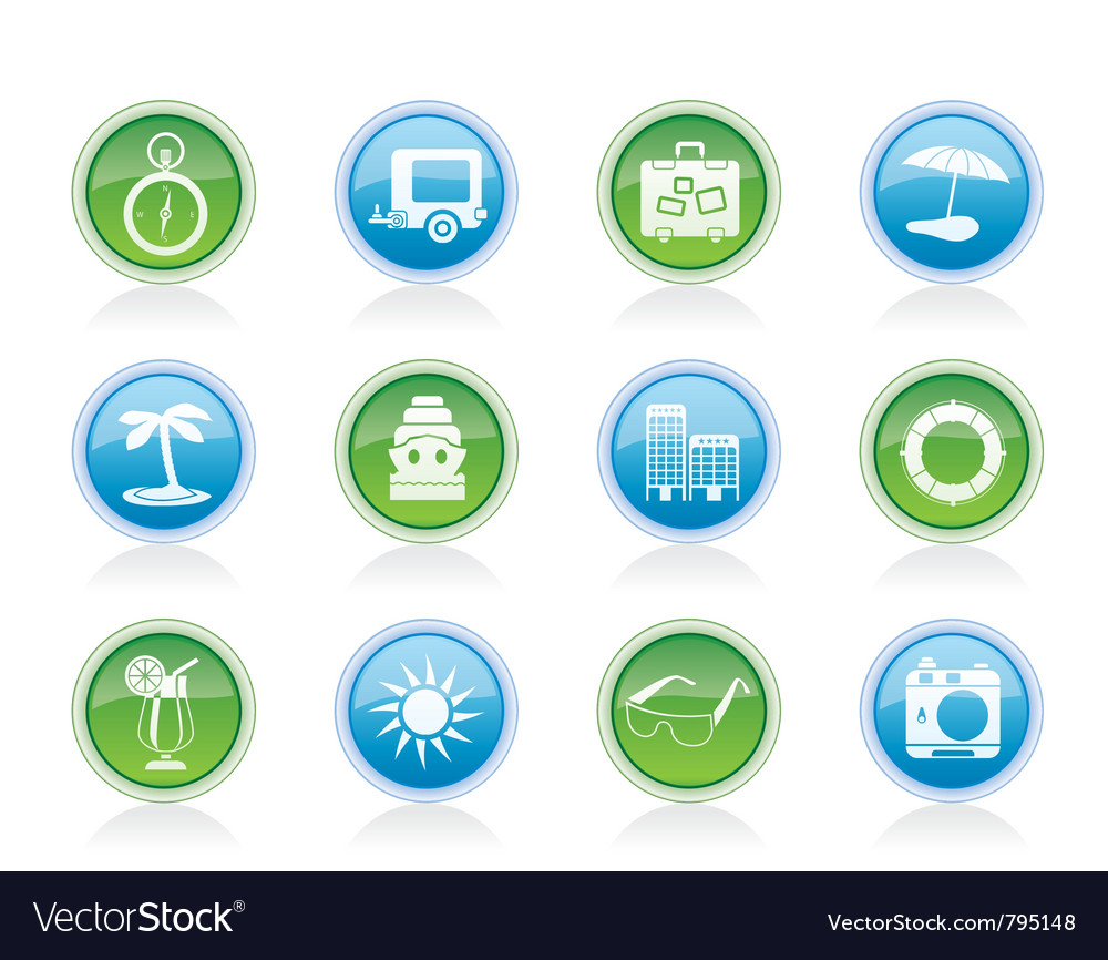 Holiday and trip icons vector | Price: 1 Credit (USD $1)