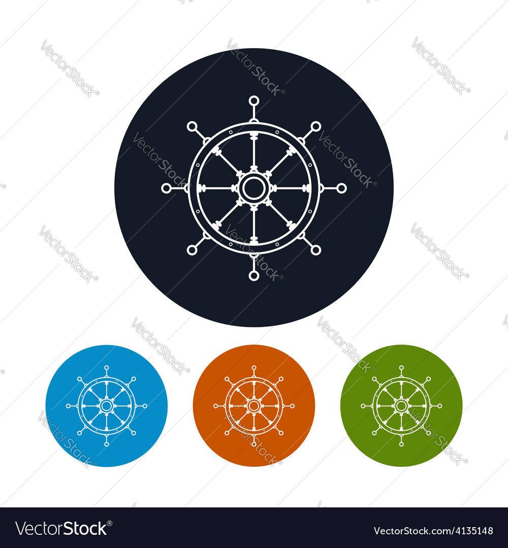 Icon ships wheel vector | Price: 1 Credit (USD $1)