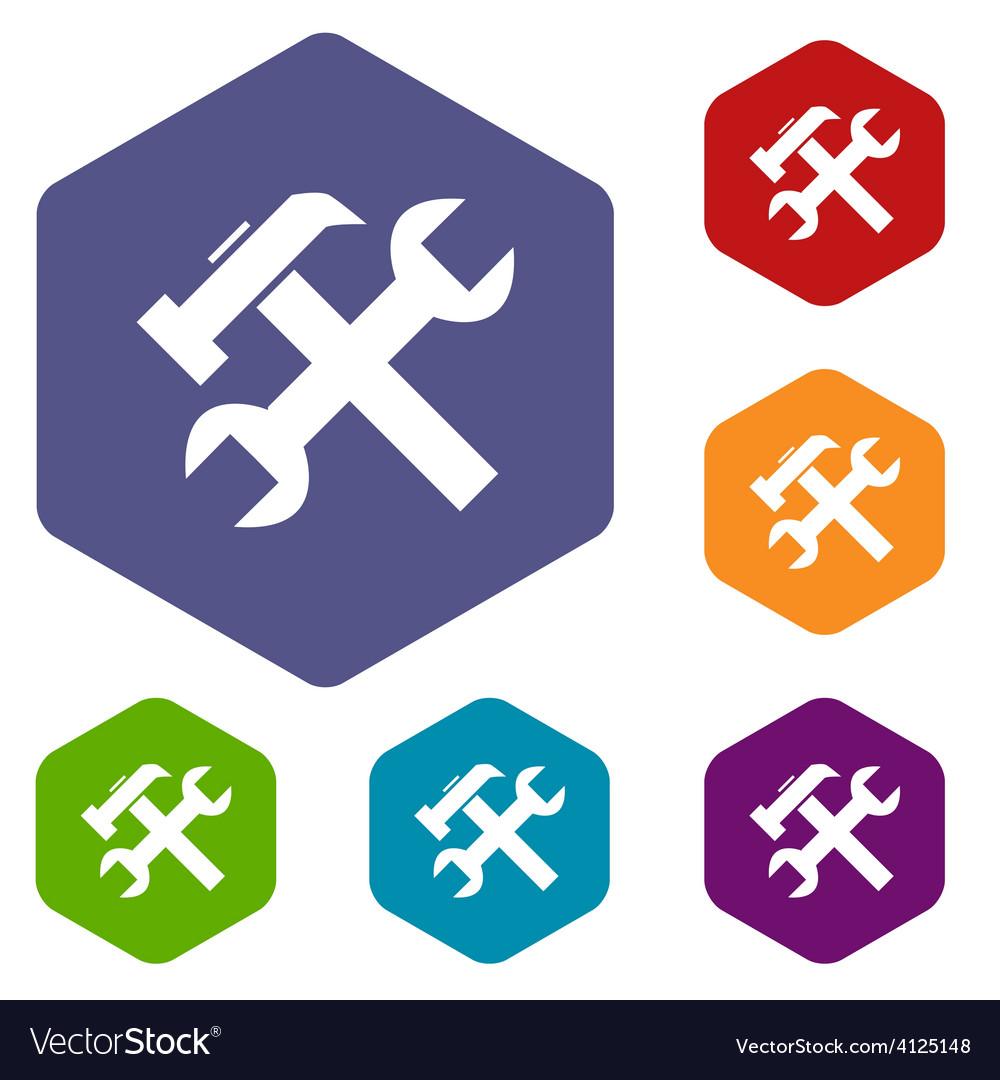 Repair rhombus icons vector | Price: 1 Credit (USD $1)