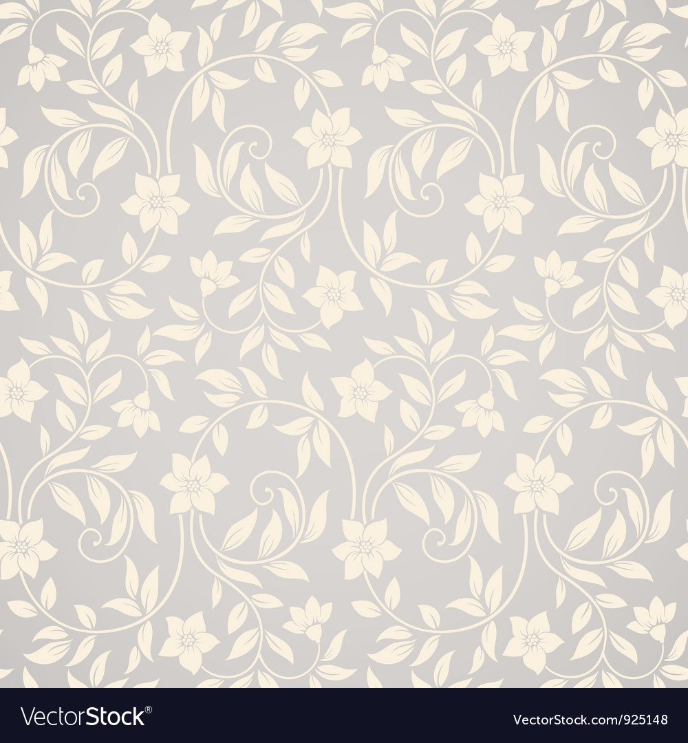 Seamless swirl floral background vector | Price: 1 Credit (USD $1)