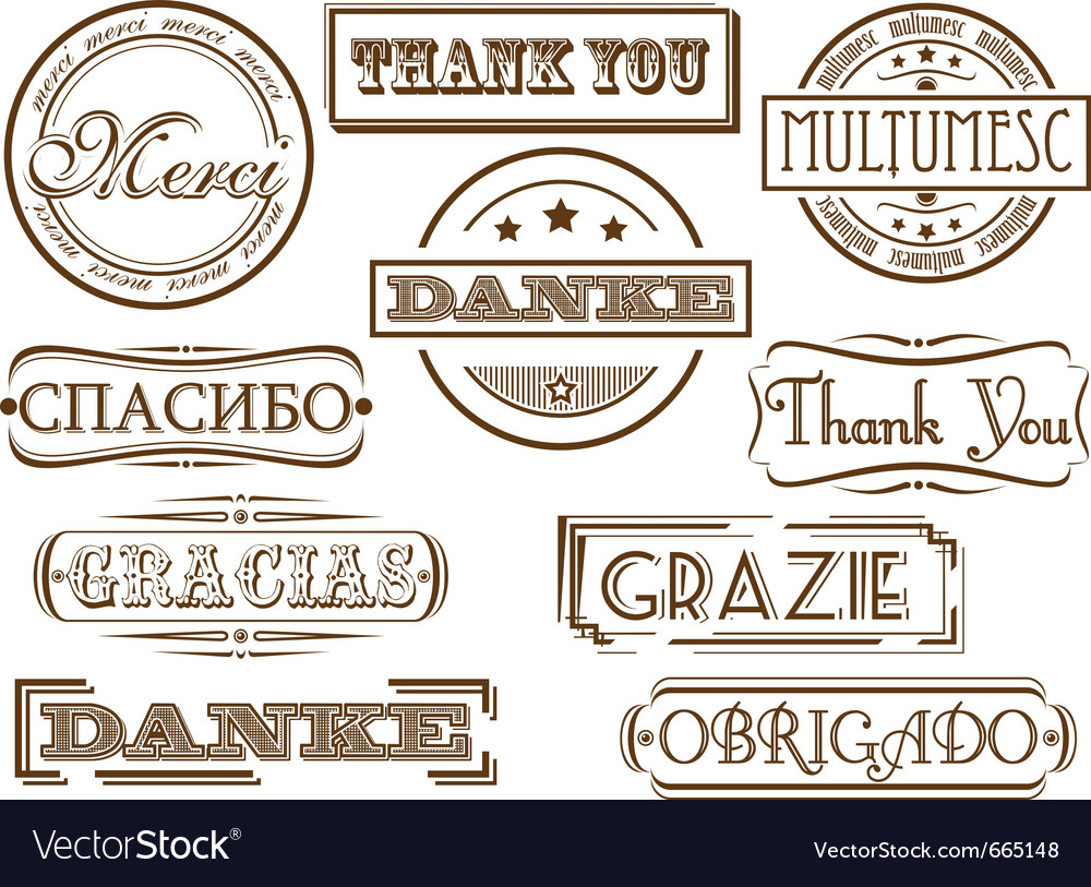 Thank you stamps vector | Price: 1 Credit (USD $1)