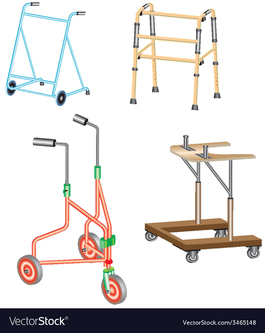 Walking frame vector | Price: 1 Credit (USD $1)