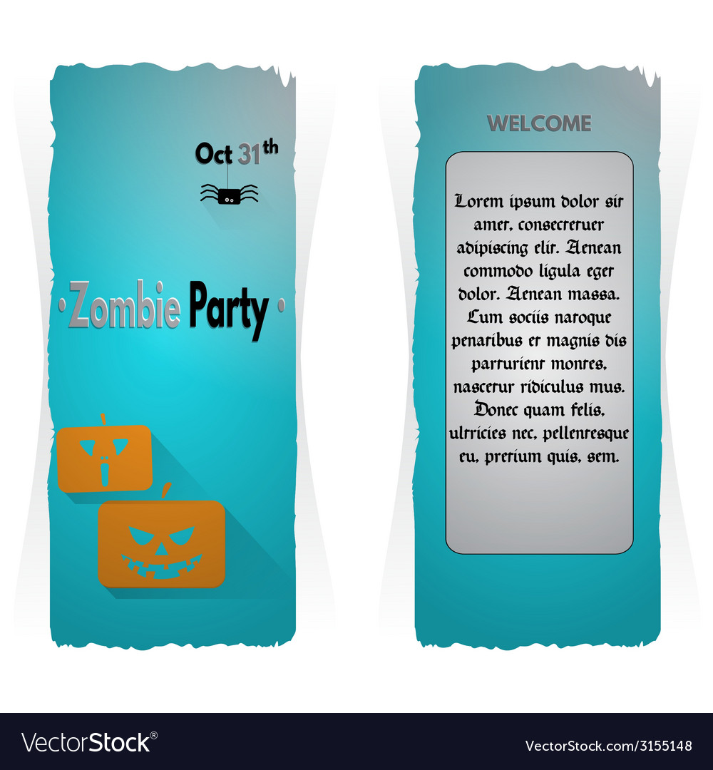 Website spooky header or banner set with halloween vector | Price: 1 Credit (USD $1)