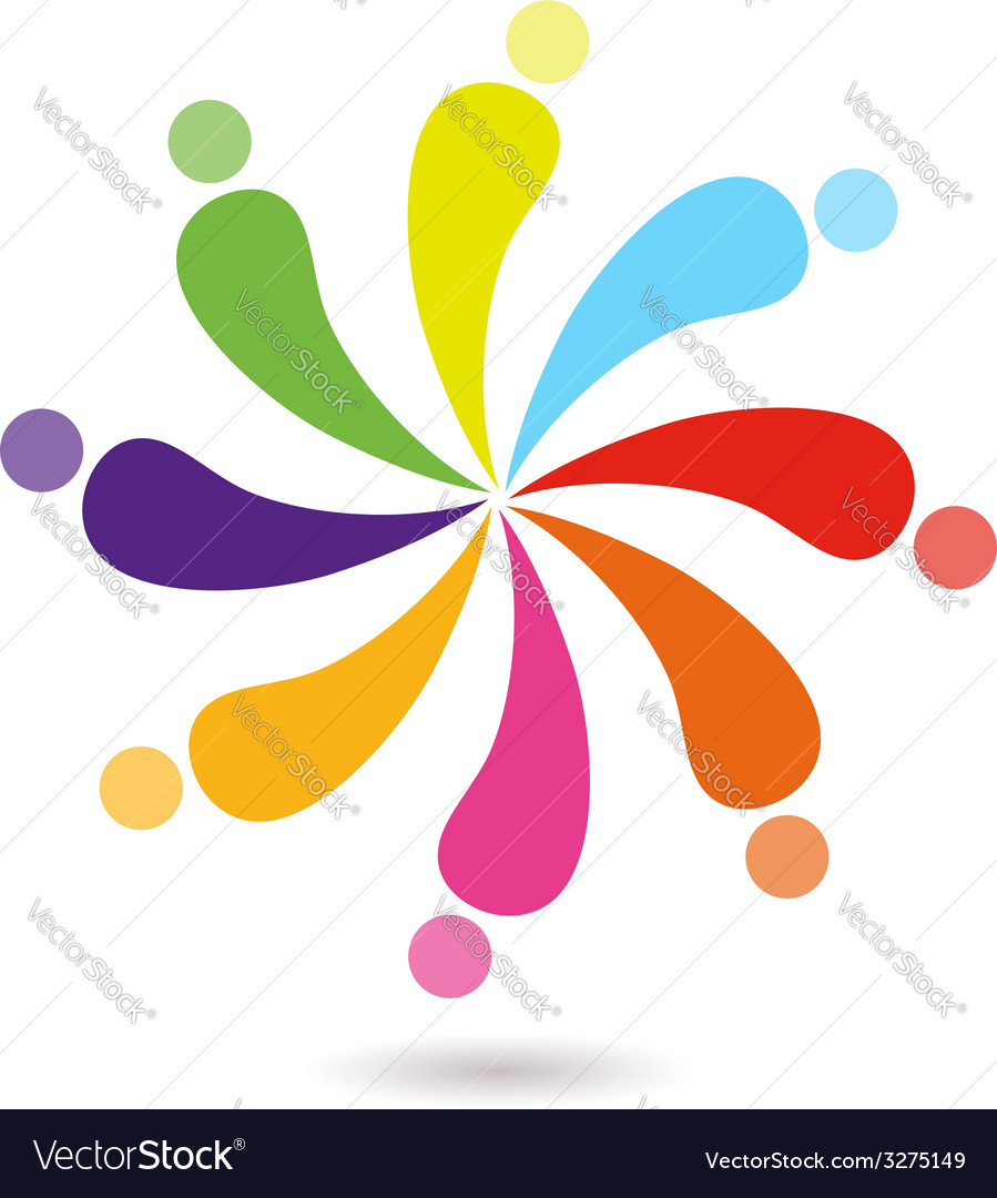 Beautiful cute colorful union sign vector