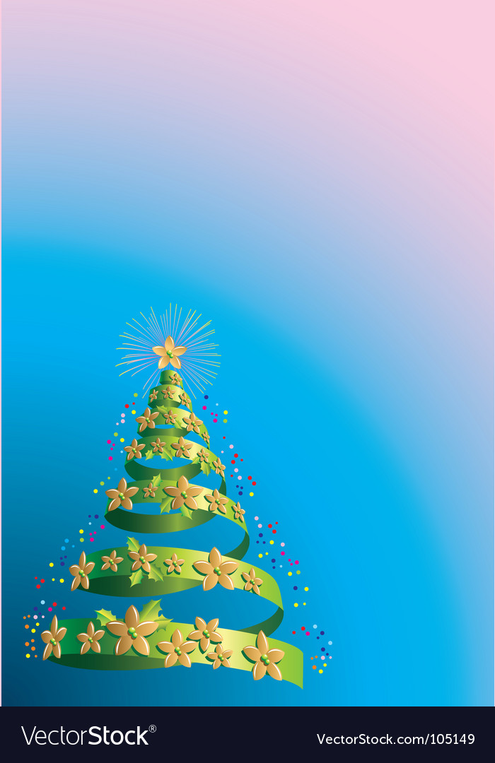 Christmas tree holiday background vector | Price: 1 Credit (USD $1)