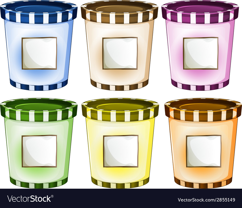 Containers with empty signs vector | Price: 1 Credit (USD $1)