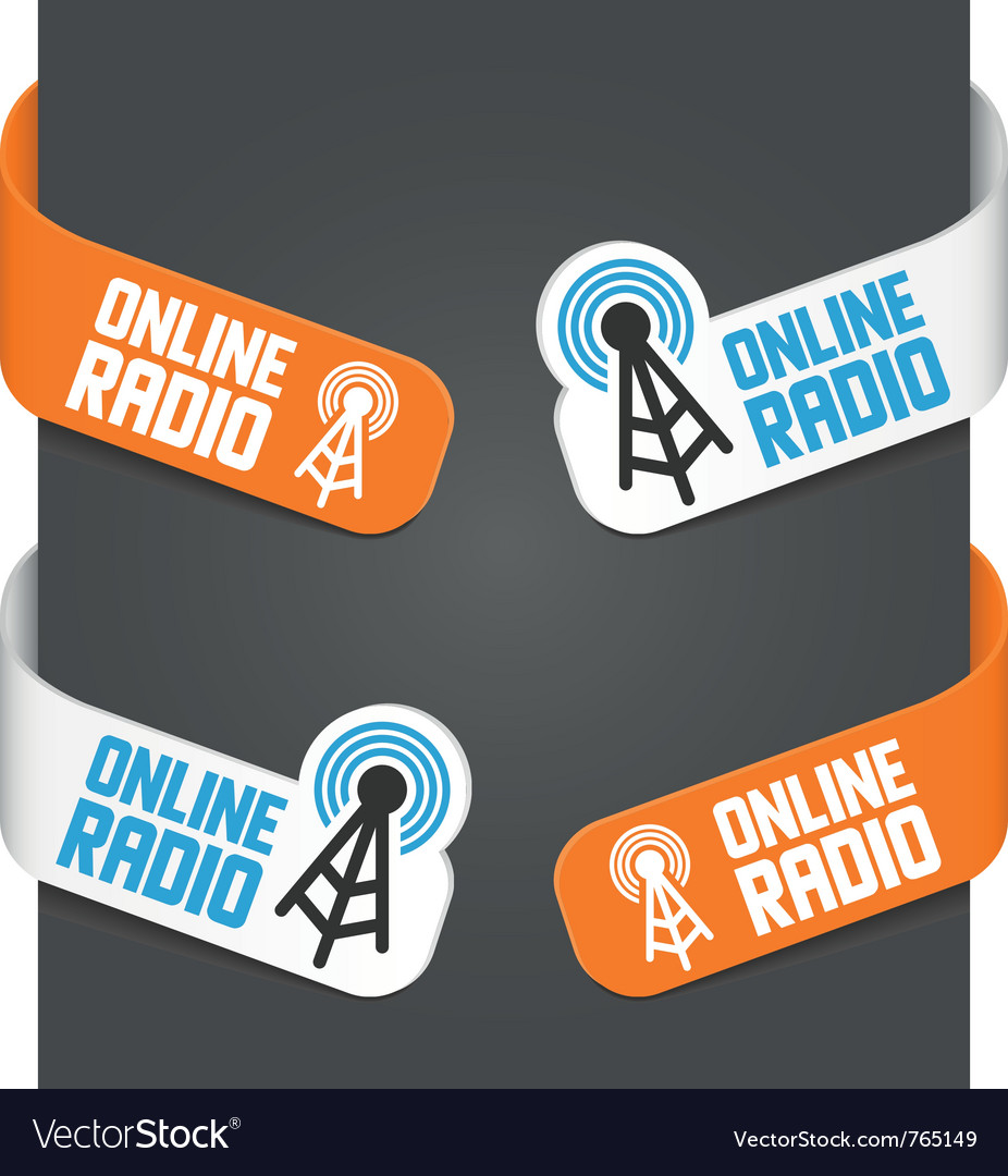 Left and right side signs - online radio vector | Price: 1 Credit (USD $1)