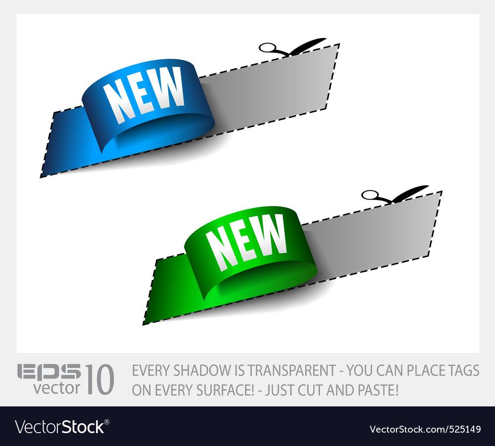 New sticker tag vector | Price: 1 Credit (USD $1)