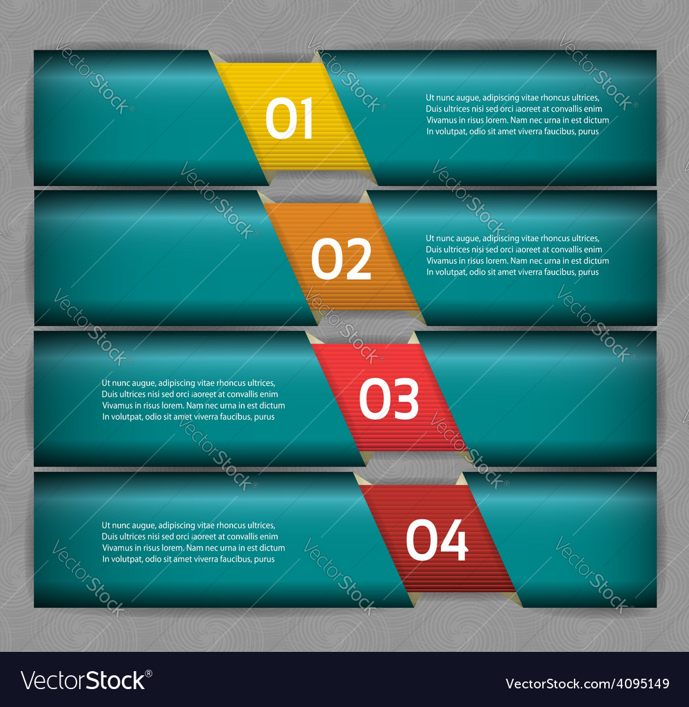 Paper numbered banners design template vector | Price: 1 Credit (USD $1)