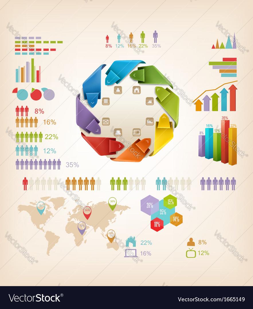 Set of info graphics elements vector   Price: 1 Credit (USD $1)
