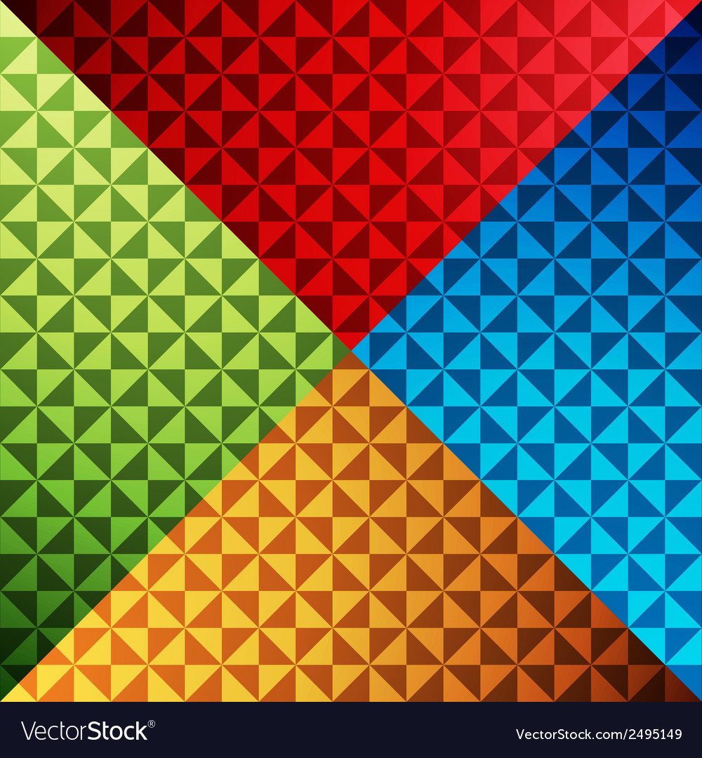 Triangle shape colorful pattern background vector | Price: 1 Credit (USD $1)