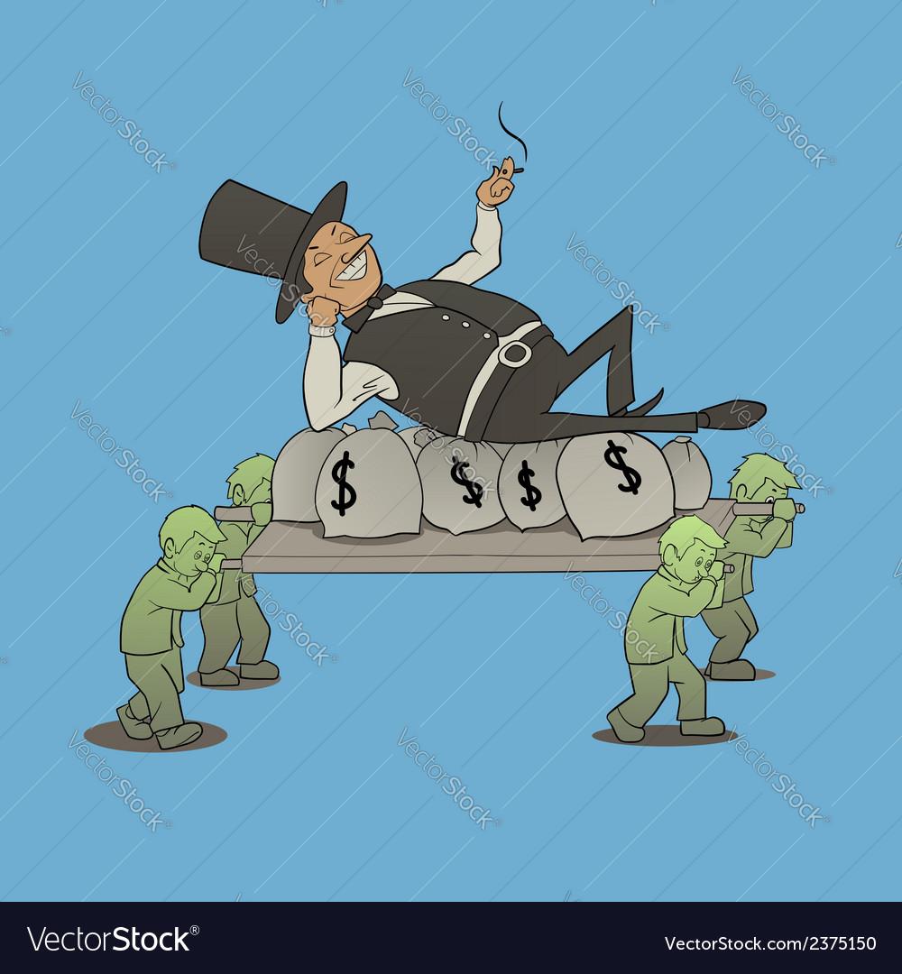 Billionaire boss vector | Price: 1 Credit (USD $1)