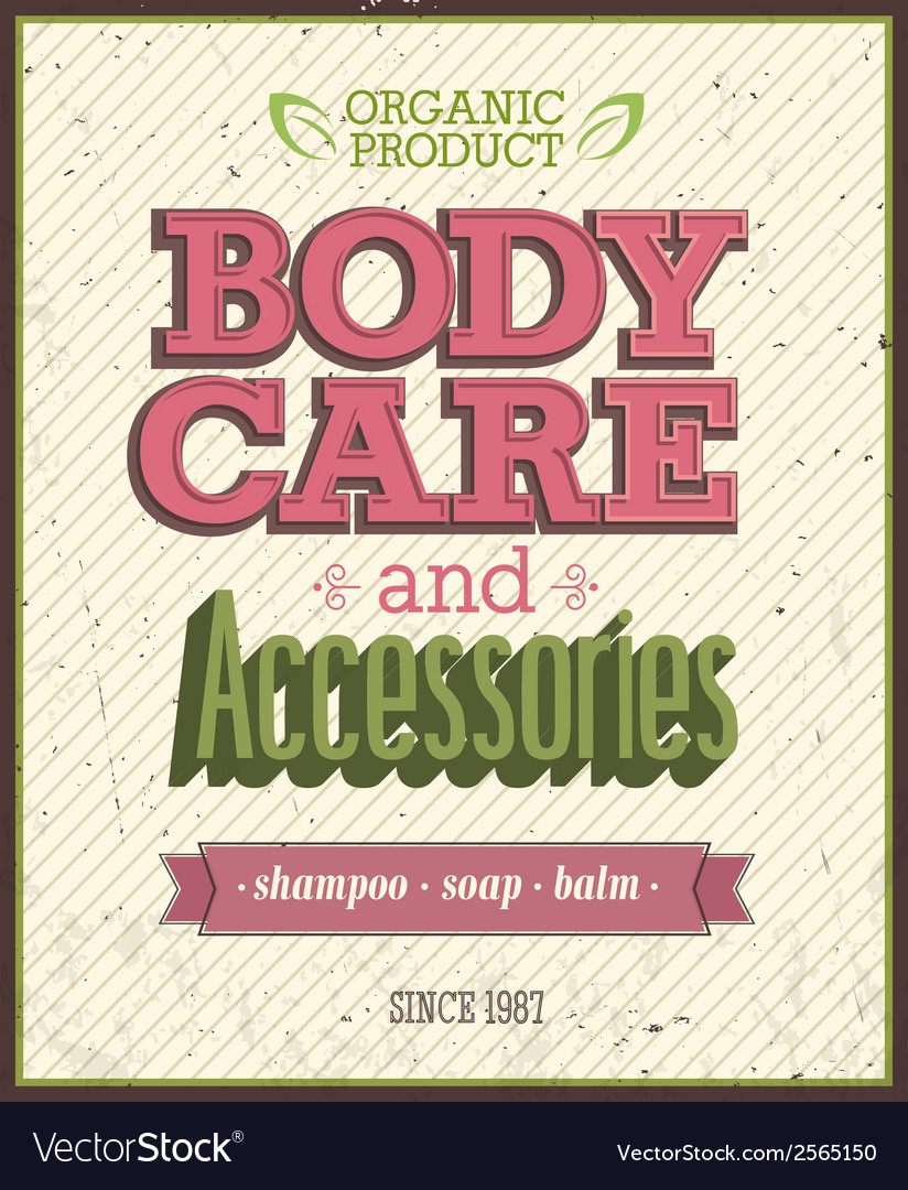 Body care vector | Price: 1 Credit (USD $1)