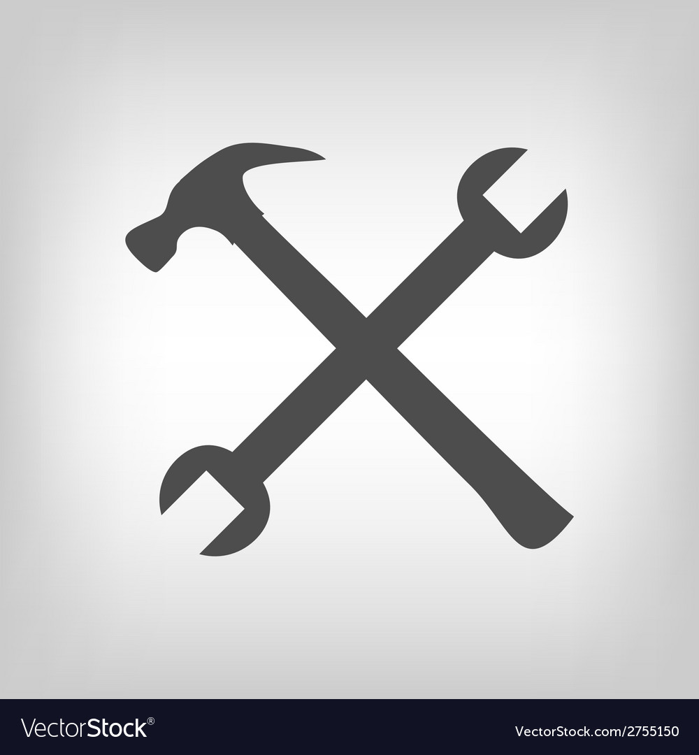 Crossed tools vector | Price: 1 Credit (USD $1)