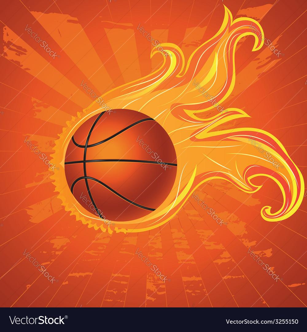 Fire basketball ball vector | Price: 1 Credit (USD $1)