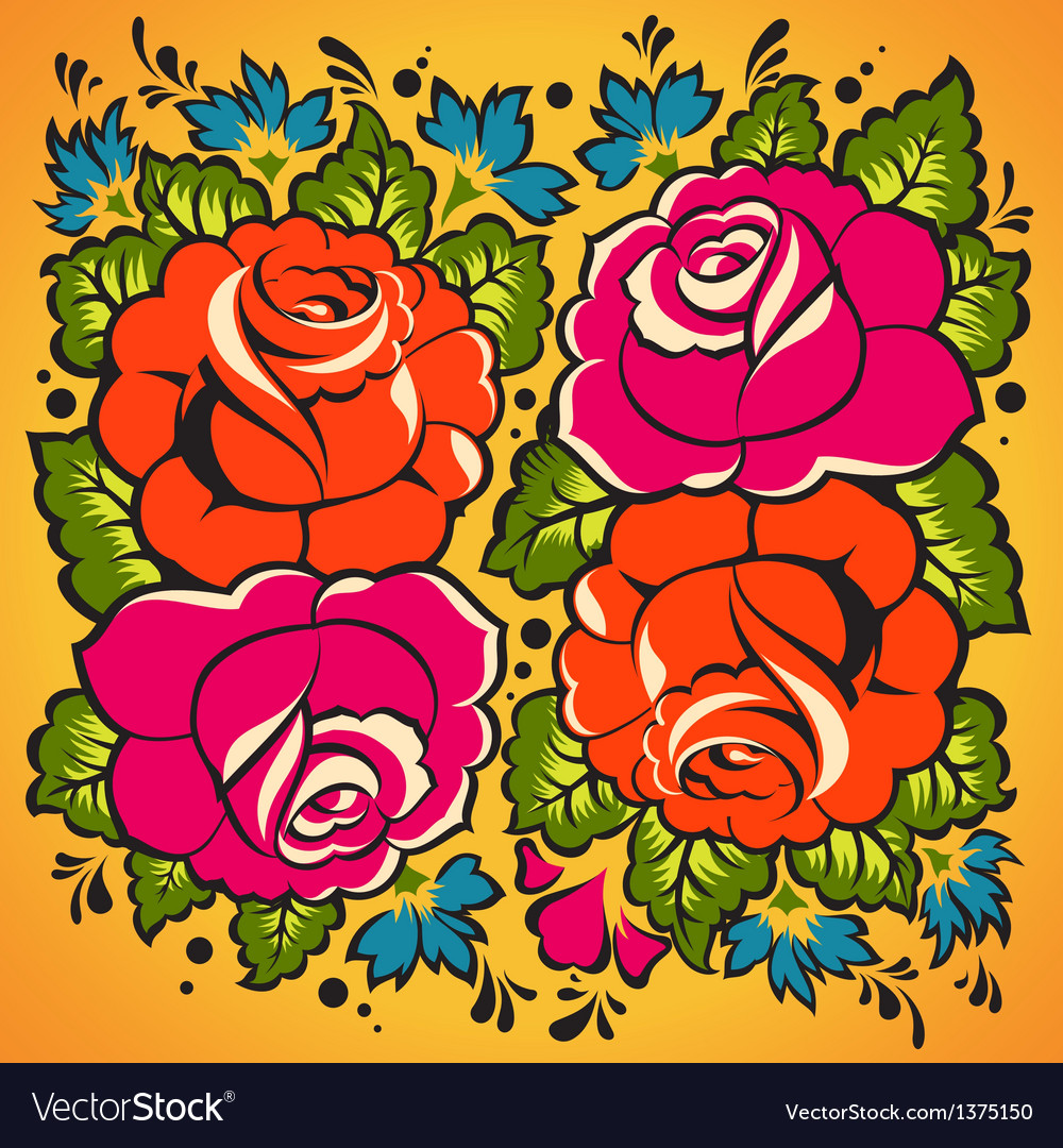 Floral ornament in russian tradition style vector | Price: 1 Credit (USD $1)