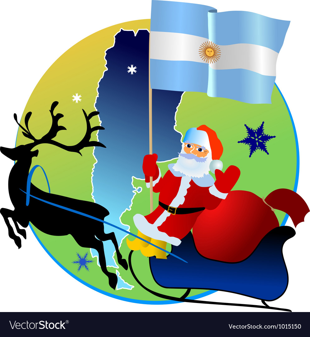 Merry christmas argentina vector | Price: 1 Credit (USD $1)